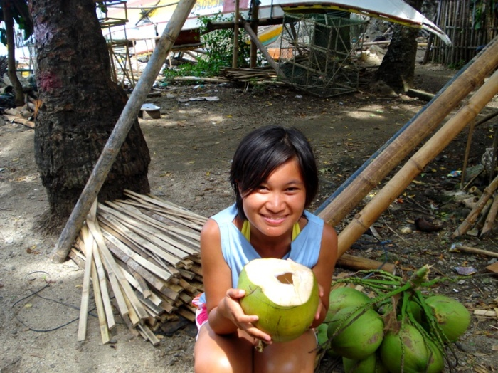 blissed out from coconuts at olotayan island, capiz, philippines