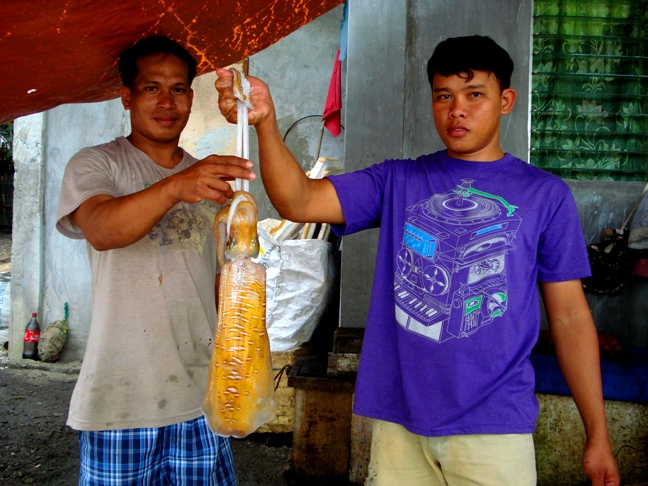 ginormous squid at olotayan island, Capiz, Philippines