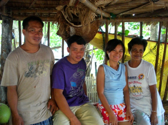 with warm people at olotayan island, Capiz, Philippines