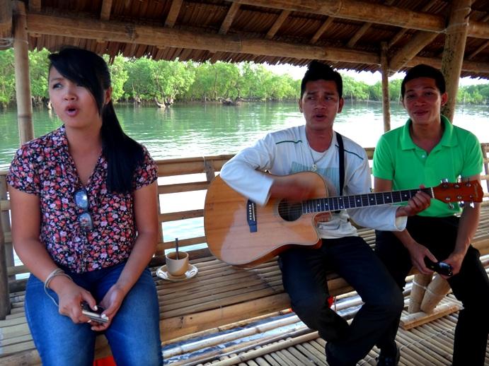 serenading at palina river cruise, roxas city, capiz, philippines