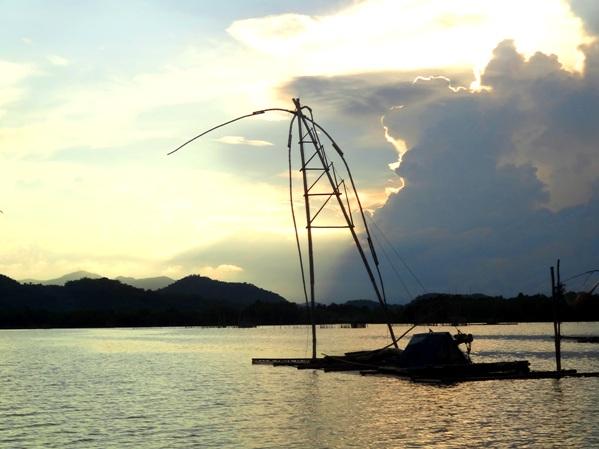 Surambaw for fishing, Palina river cruise, Roxas City, Capiz, Philippines