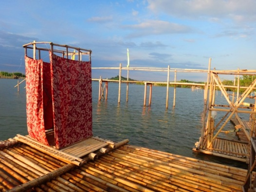 Toilet at Palina river cruise, Roxas City, Capiz, Philippines