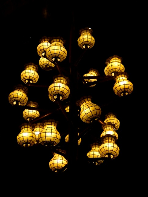 Capiz chandeliers, Bamboo Organ, St. Joseph Church,  Las Piñas, Manila, Philippines