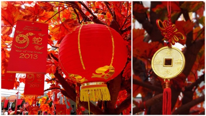 Chinese New Year tree, lanterns, lucky charms, Lucky Mall Chinatown, Binondo, Chinese New Year 2013, Manila, Phiippines