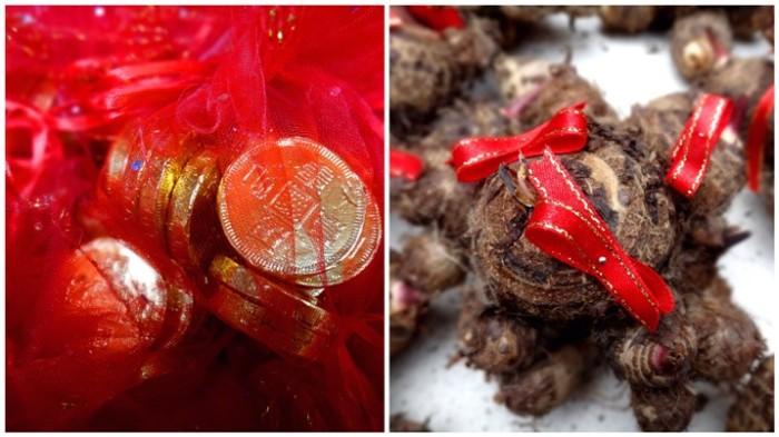 Coins, Taro, Ongpin, Binondo, Chinese New Year, Manila, Phiippines