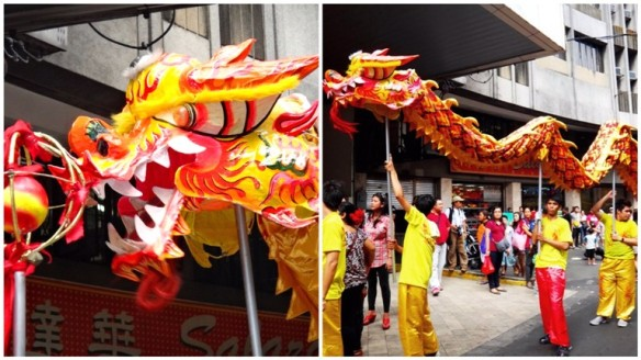 Dragon dance, Ongpin, Binondo, Chinese New Year 2013, Manila, Phiippines