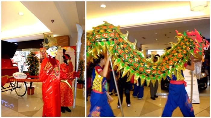 Dragon dance, performances, Lucky Mall Chinatown, Binondo, Chinese New Year 2013, Manila, Phiippines