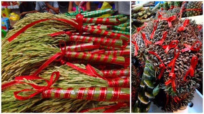 Dried plants for good luck, Chinese New Year, Ongpin, Binondo, Manila Philippines