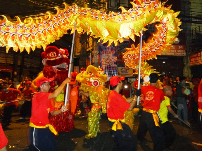 Dragon dance Chinese New Year