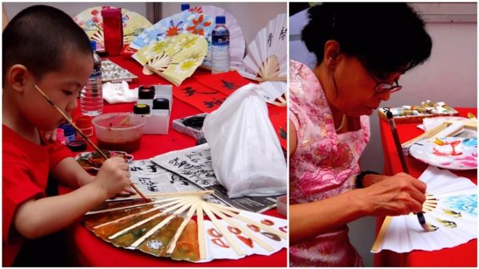 Fan painting, Lucky Mall Chinatown, Binondo, Chinese New Year 2013, Manila, Phiippines