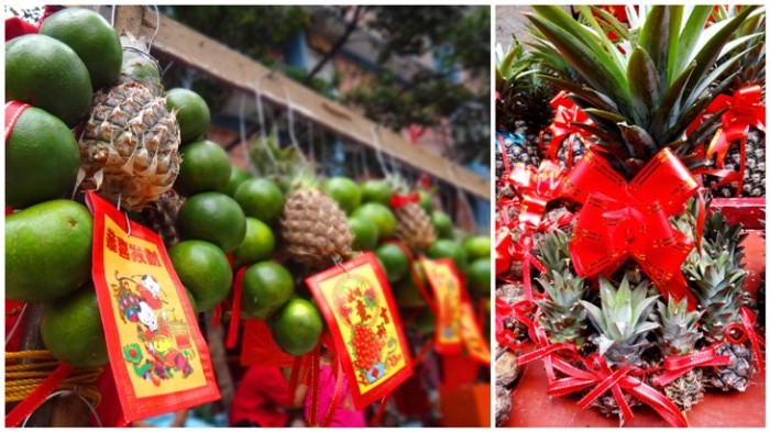 Good luck fruits, Ongpin, Binondo, Chinese New Year, Manila, Phiippines