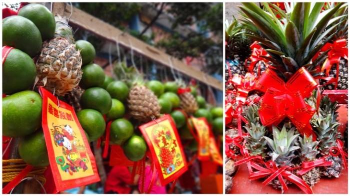Good luck fruits, Ongpin, Binondo, Chinese New Year, Manila, Phiippines