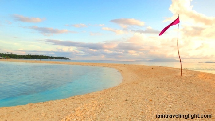 Higatangan Island sandbar, after the sun has risen, Biliran, Visayas, Philippines watermarked