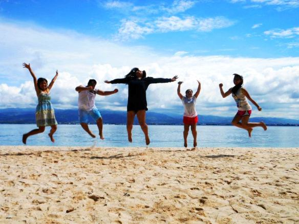 Jump shot with friends, Sta. Cruz Island, Zamboanga, Philippines