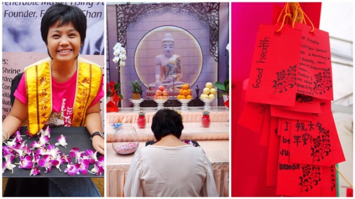 Mabuhay Temple, offering, wishing tree, Chinese New Year 2013, Lucky Mall Chinatown, Binondo, Manila, Philippines