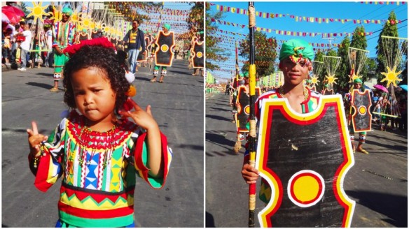 Children dancers, Don Carlos Municipality (Manobo tribe), Kaamulan Festival Street dance 2013, Malaybalay, Bukidnon, Mindanao, Philippines