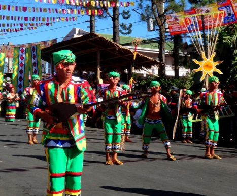 Dancers, Don Carlos Municipality (Manobo tribe), Kaamulan Festival Street dance 2013, Malaybalay, Bukidnon, Mindanao, Philippines