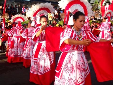 Dancers, Pangantucan Municipality (Talaandig and Idlantungun Manuvu tribes), Kaamulan Festival Street dance 2013, Malaybalay, Bukidnon, Mindanao, Philippines