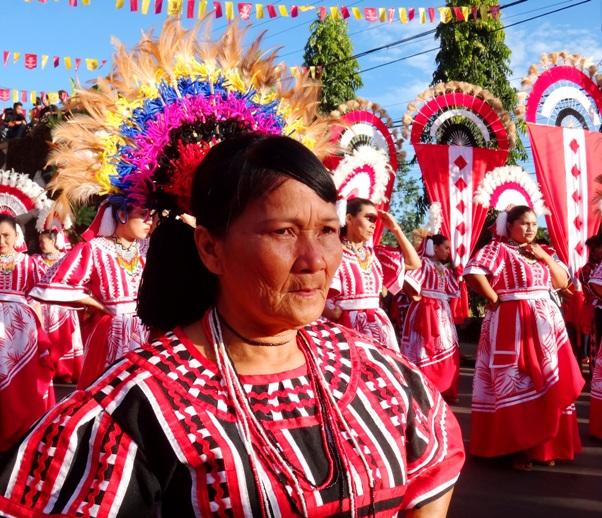 Idlantungun Manuvu tribe dancer, Pangantucan Municipality, Kaamulan Festival Street dance 2013, Malaybalay, Bukidnon, Mindanao, Philippines