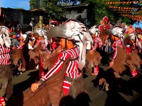 Talaandig tribe(bird) dance, Talakag Contingent, Kaamulan Festival Street dance 2013, Malaybalay, Bukidnon, Mindanao, Philippines