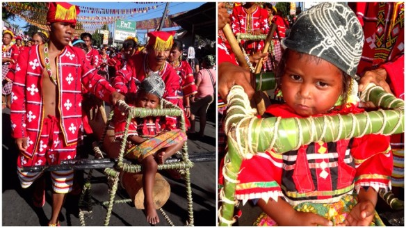 Tribal family, Kitaotao (Manobo and Matigsalug), Grand prize winner, First place, Kaamulan Festival Street dance 2013, Malaybalay, Bukidnon, Mindanao, Philippines
