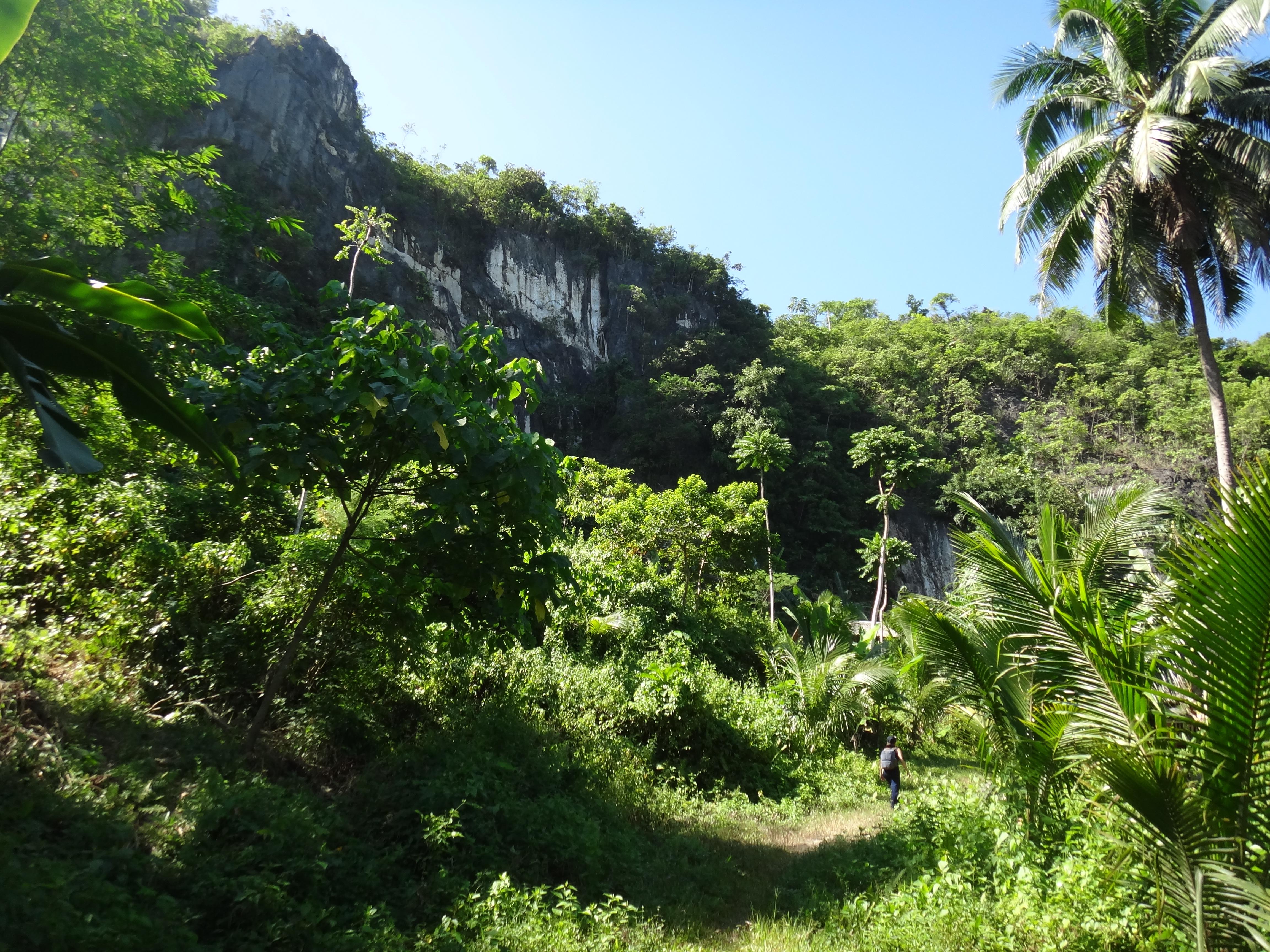 Atimonan Philippines  City new picture : ... route to Tinandog Wall, rock climbing, Atimonan, Quezon, Philippines
