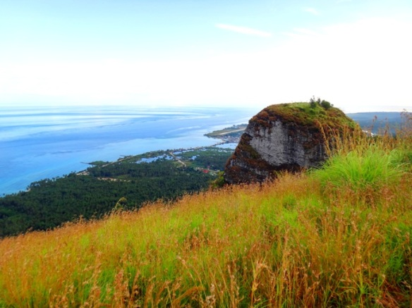Grassy summit, one of the summits, Bud Bongao, or Mount Bongao, Tawi-tawi, Mindanao, Philippines