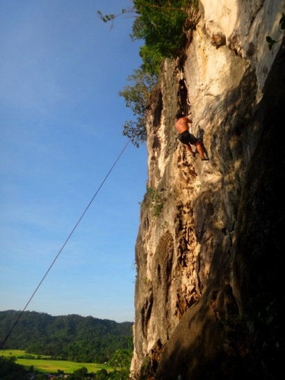 rock climber, rock climbing, Tinandog Wall, Atimonan, Quezon, Philippines