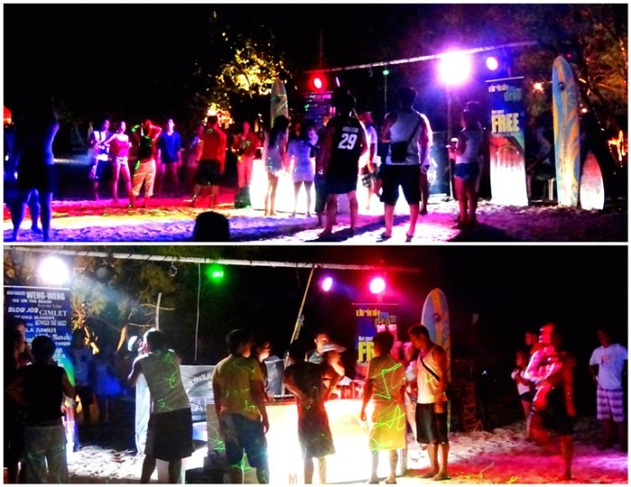 beach party, mobile bar, drinking by the beach, Mahabang Buhangin beach, Calaguas Islands, Vinzons, Camarines Norte, Philippines