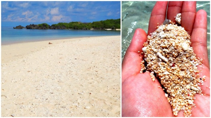 pink beach, fine sand, pebbles, Apo Island, Apo Reef, Sablayan, Occidental Mindoro, Philippines