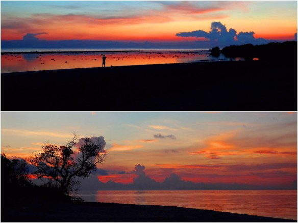 Sunrise, sunset, Apo Reef, Sablayan, Occidental Mindoro, Philippines