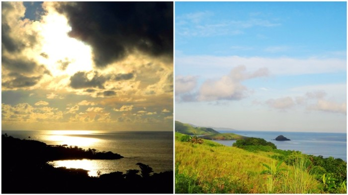 view from hills in Calaguas, Vinzons, Camarines Norte, Philippines