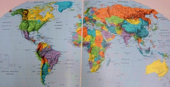 World map, travel planning