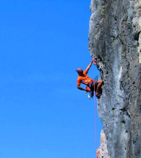 rock climbing, rock climber, Blade Runner route, Tinandog Wall, Atimonan, Quezon, Philippines 4