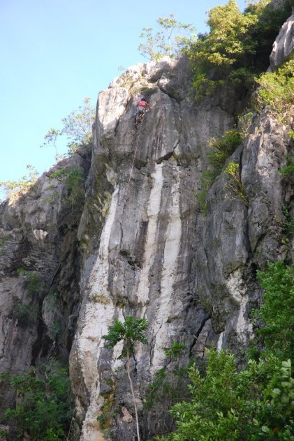 rock climbing, rock climber, Main Wall, 5.13 difficulty, Tinandog Wall, Atimonan, Quezon, Philippines