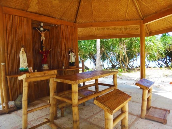 bamboo chapel, Kalanggaman island, Palompon, Leyte, Philippines