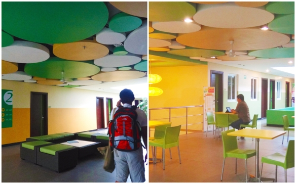 Circles art installation, lobby, common area, Go Hotels Tacloban, budget hotel, cheap hotel, Leyte, Philippines