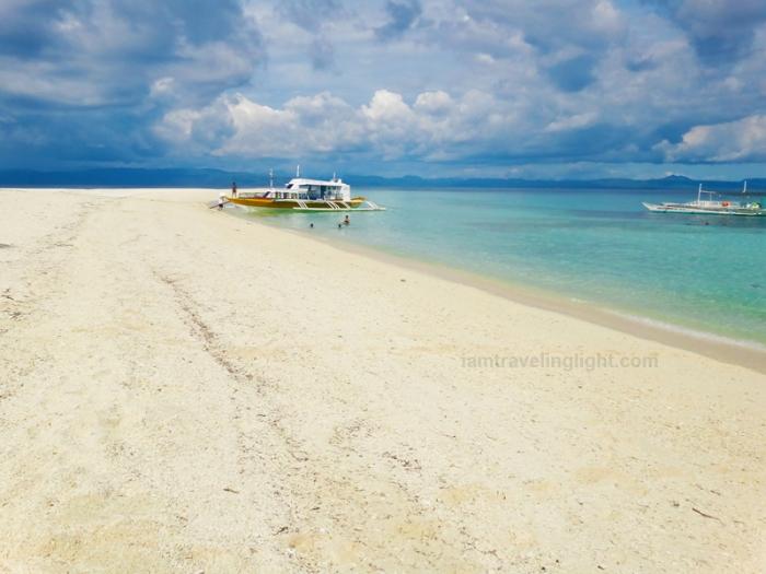docking boat sand bar, Kalanggaman Island sandbar, unspoiled white beach, Palompon, Leyte, Philippines