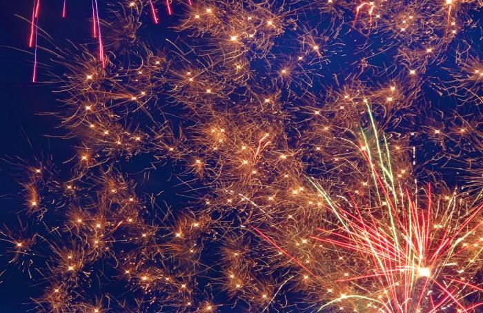 fireworks, Pintados-Kasadyaan Festival 2013, Tacloban, Leyte, Philippines