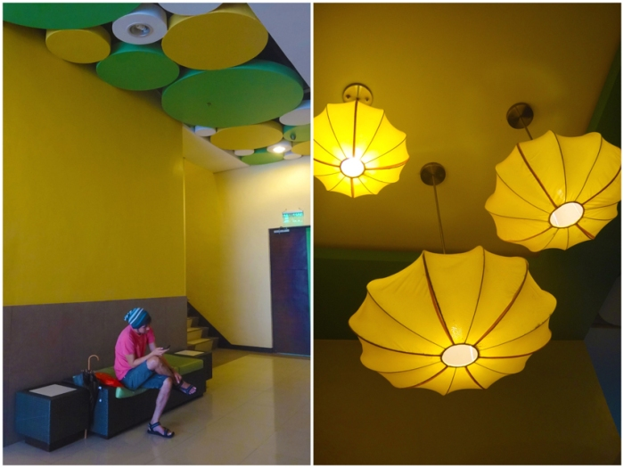 lobby, waiting area, circles art installation, Go Hotels Tacloban, Leyte, Philippines