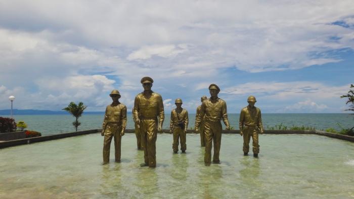 MacArthur Landing Memorial, Palo, Leyte, Douglas MacArthur I shall return, Philippines