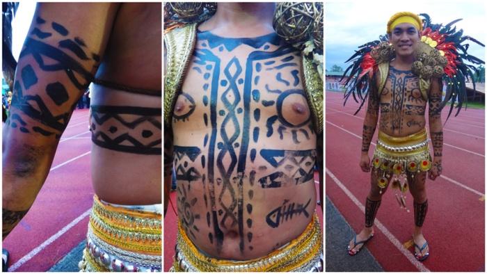 Pintados tattoo, Pintados Festival 2013, Tacloban, Leyte, Philippines