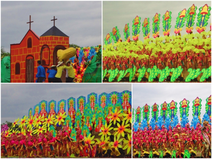 Second place, Lingganay contingent, Alangalang municipality, Kasadyaan Festival 2013, Tacloban, Leyte, Philippines
