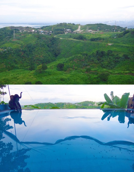 infinity pool, mountain view, spa vacation, Luljetta's Hanging Gardens and Spa, Loreland Farm Resort, Antipolo, Philippines, near Manila
