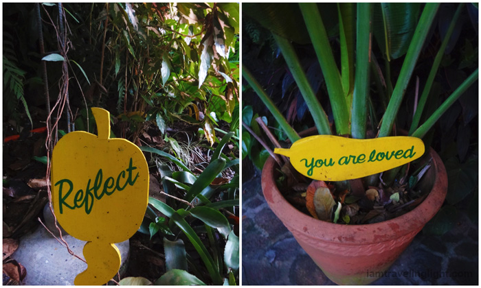 wellness reminders, reflect and you are loved sign, relax, spa vacation, Luljetta's Hanging Gardens and Spa, Loreland Farm Resort, Antipolo, Philippines, near Manila