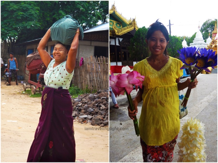 burmese locals, myanmar locals, myanmar local, flower vendor, daily life