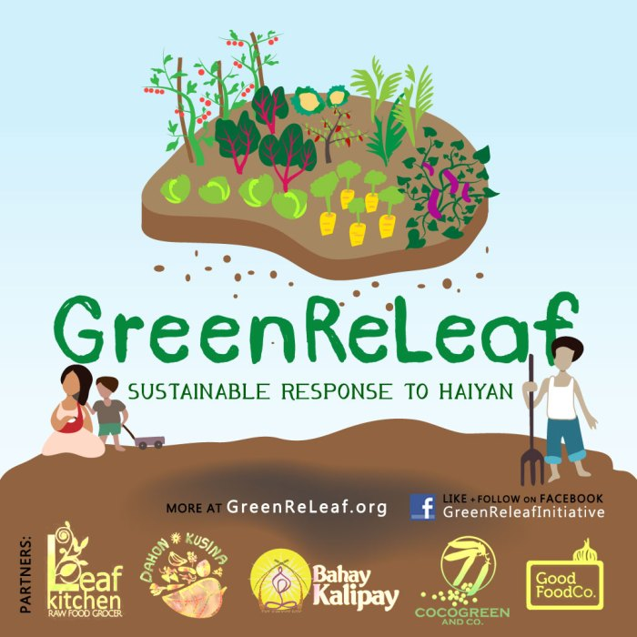 Green Releaf sustainable relief and response to Typhoon Haiyan
