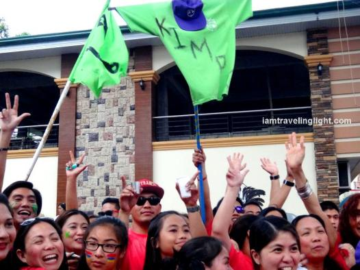 Kimpo family parade, revelry making, party, crowds, Kalibo Ati-atihan Festival 2014