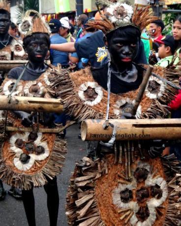 patik-patik, Ati indigenous bamboo musical instrument, Tribu Malipayong Ati, 3rd place, Balik-Ati category, native Ati costume, Kalibo Ati-atihan Festival 2014