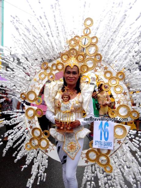 Styra Banks, second place, individual category, Kalibo Ati-atihan Festival 2014